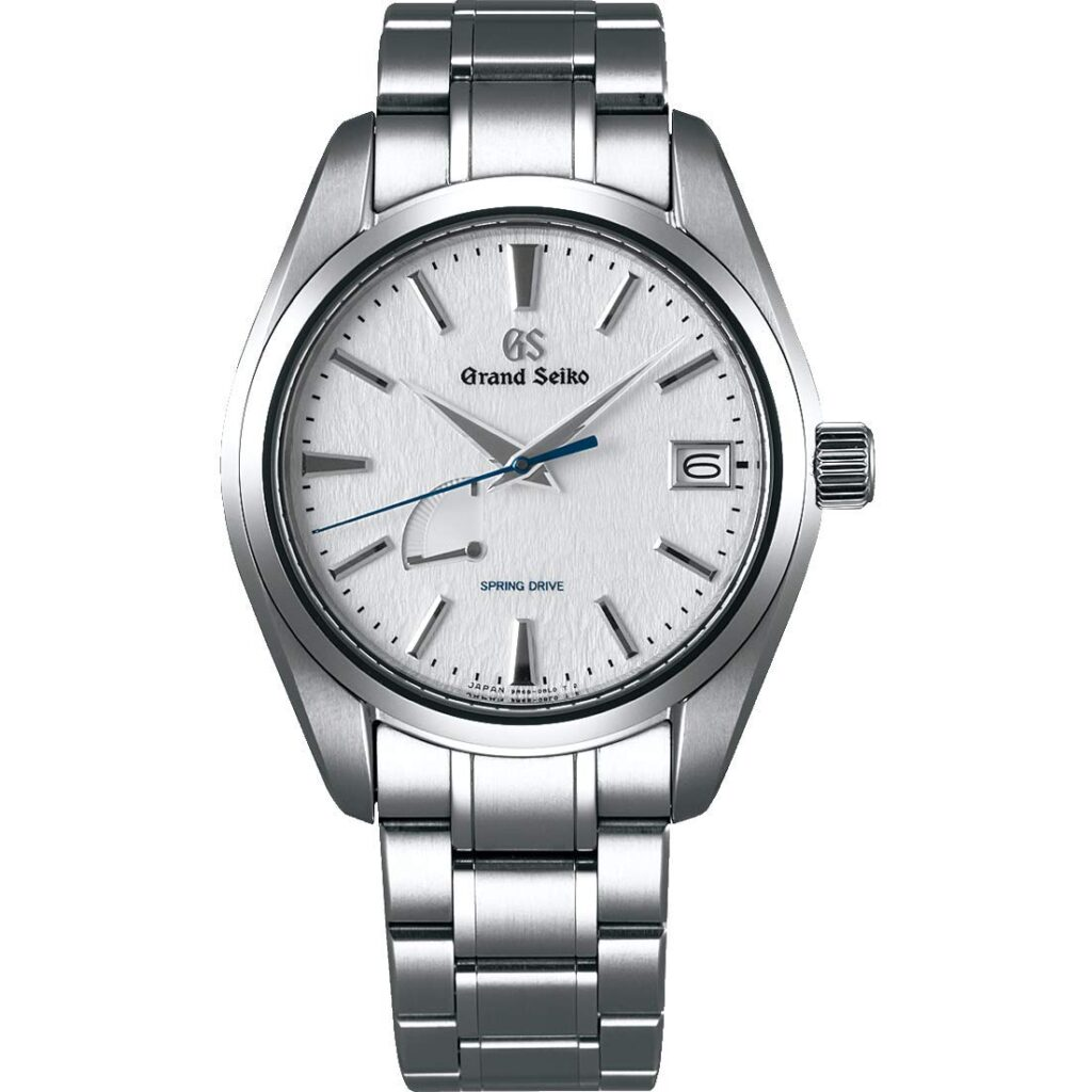 Grand Seiko Watch, Silver Watch, Dive Watch, Stainless-steel Watch, Date Display