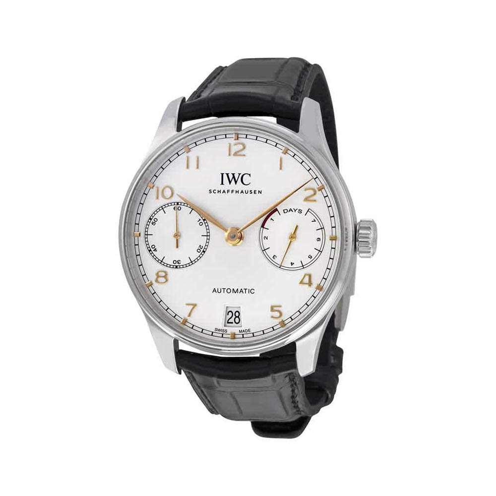 IWC Portugieser Automatic, Automatic Watches For Men, Swiss Made Watch, Leather Watch