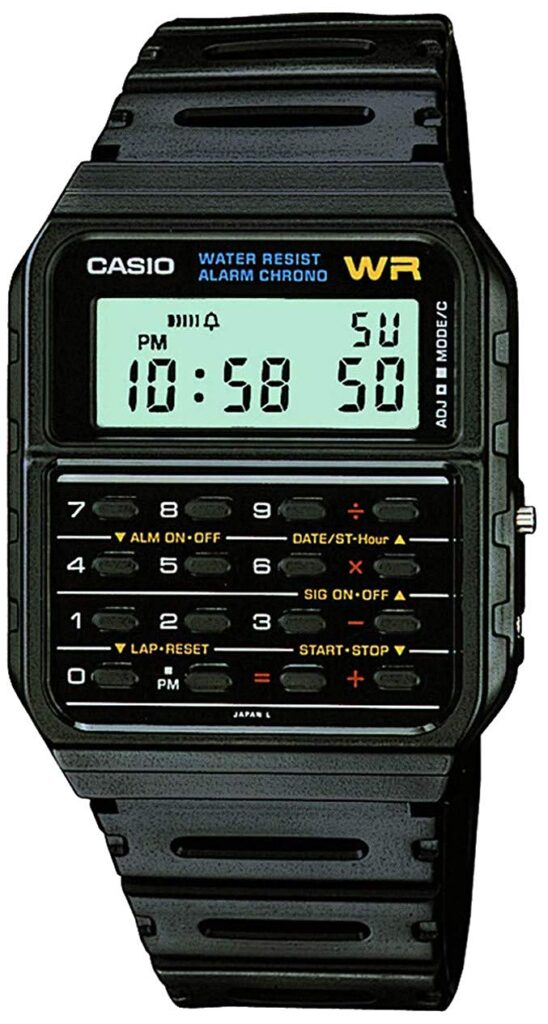 Casio CA53W Twincept Databank, Black Watch, Digital Watch, Modern Watch