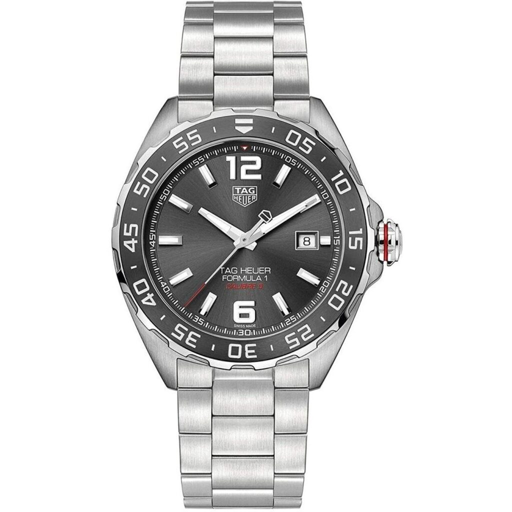 Tag Heuer Formula 1, Stainless-steel, Watches For Men Under $1000, Silver Watch, Date Display