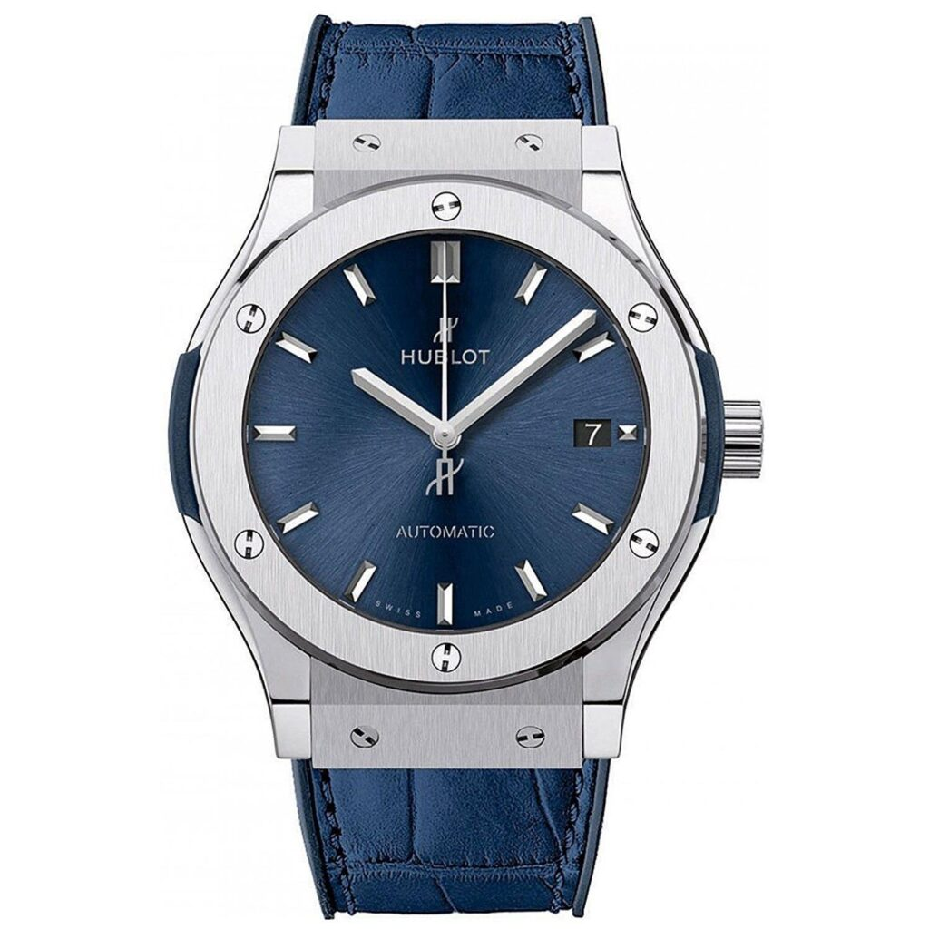 Hublot Classic Fusion Automatic, Blue Watch Face, Automatic Watches For Men, Date Display, Blue Strap