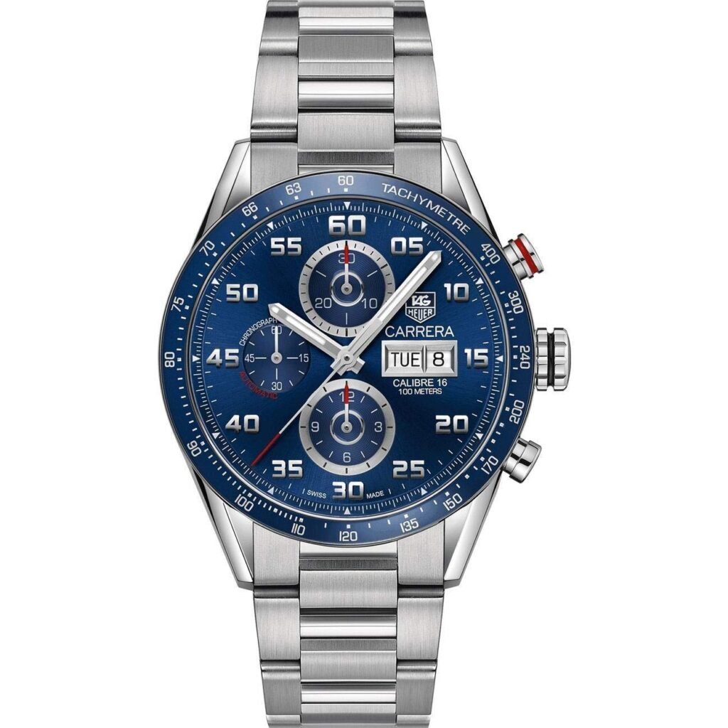 TAG Heuer Carrera Calibre 16 Automatic, Automatic Watches For Men, Blue Face, Stainless-steel Watch, Luxury Watch