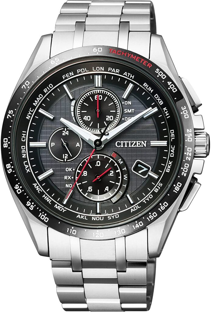 Citizen Attesa, Eco Watch, Tachymeter, Stainless-steel Watch, Silver Watch, Japanese Watch