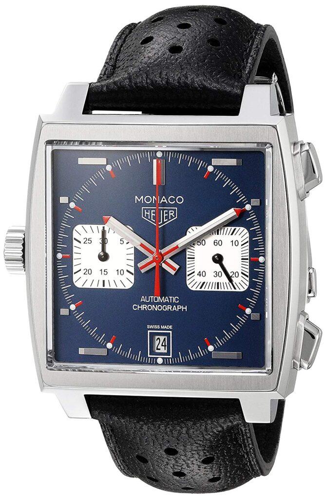TAG Heuer Monaco, Modern Watch, Leather Watc, Automatic Watch, Chronograph