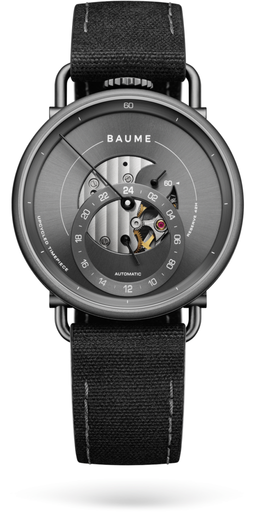 Baume Watch, Grey Watch, Modern Watch, Black Strap, Eco-watches