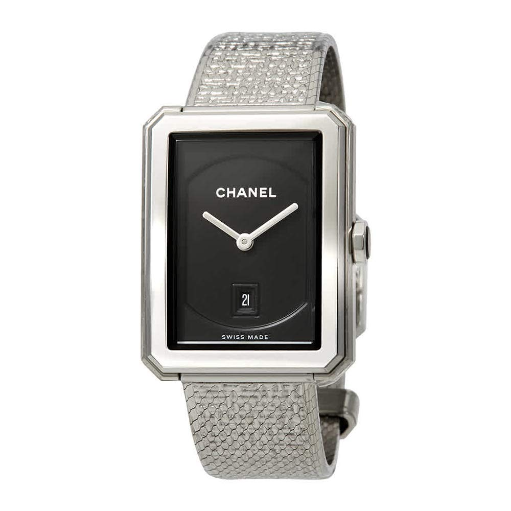 Chanel Boyfriend Watch, Swiss Made Watch, Date Display, Silver Watch, Luxury Watch, Co-ed Watches