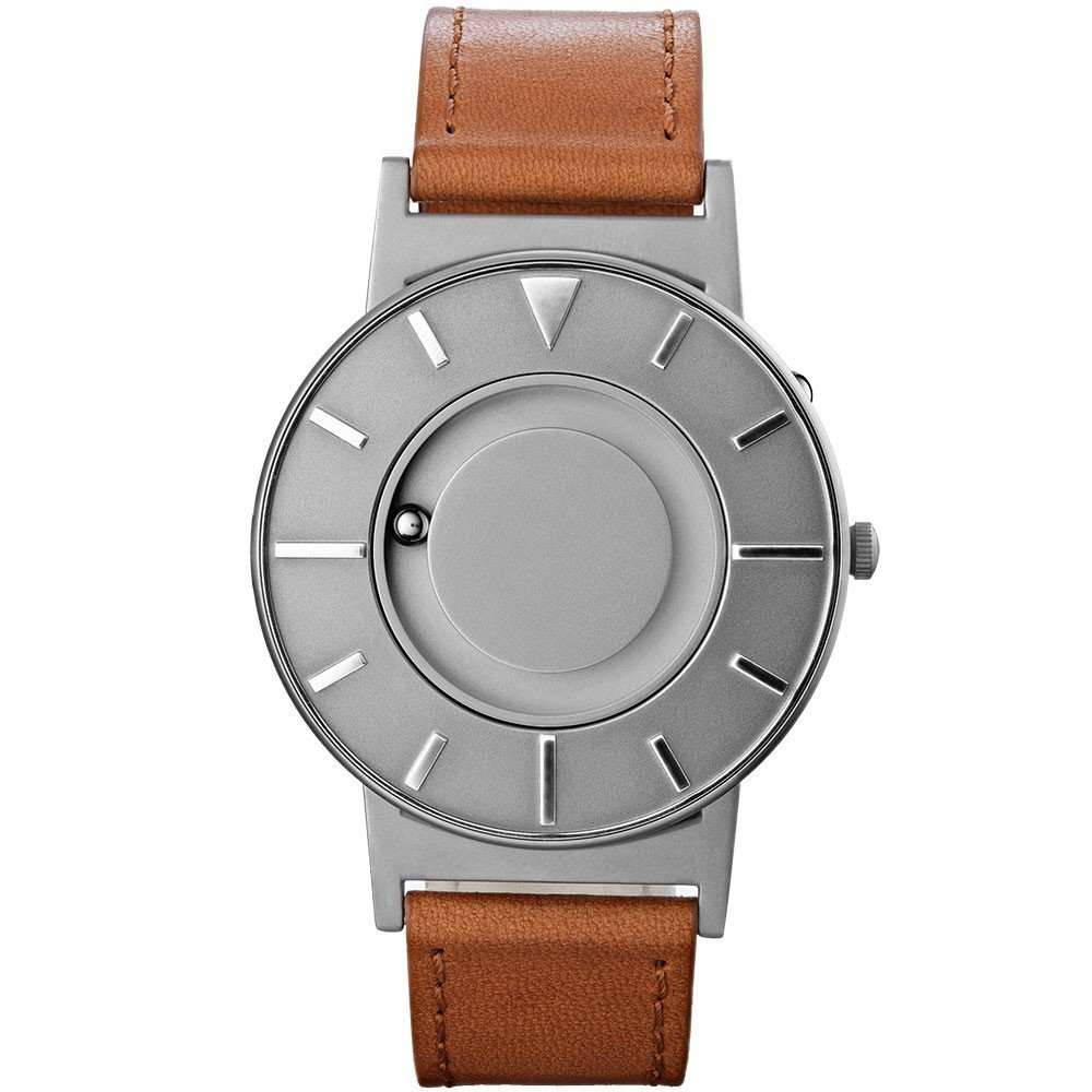 Eone Watch, Eco-watches, Nature-friendly Watches, Brown Strap, Silver Watch