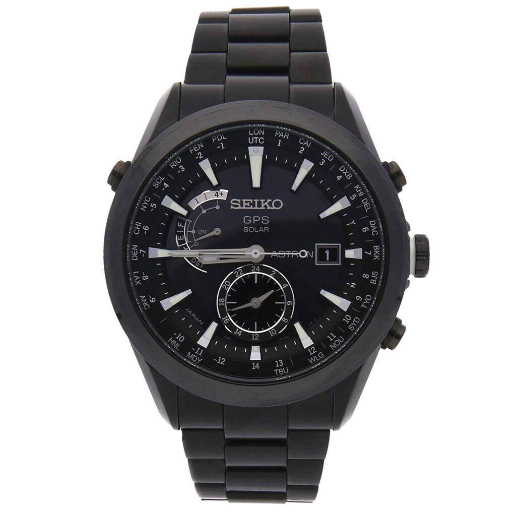 Travel Watches, Seiko Astron, Solar Watch, Eco-friendly Watch, Black Watch