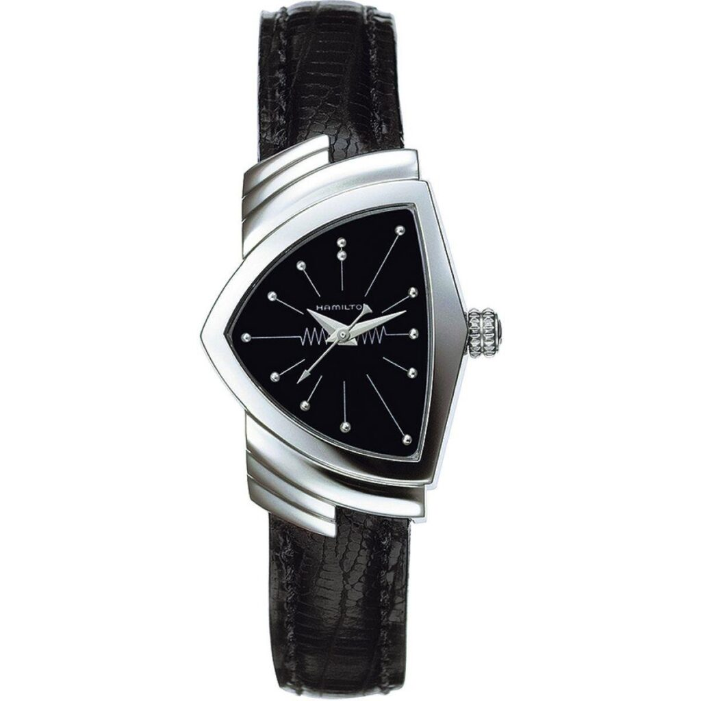 Hamilton Ventura Quartz Watch, Black Watch, Unique Watch, Luxury Watch, Ladies Watch