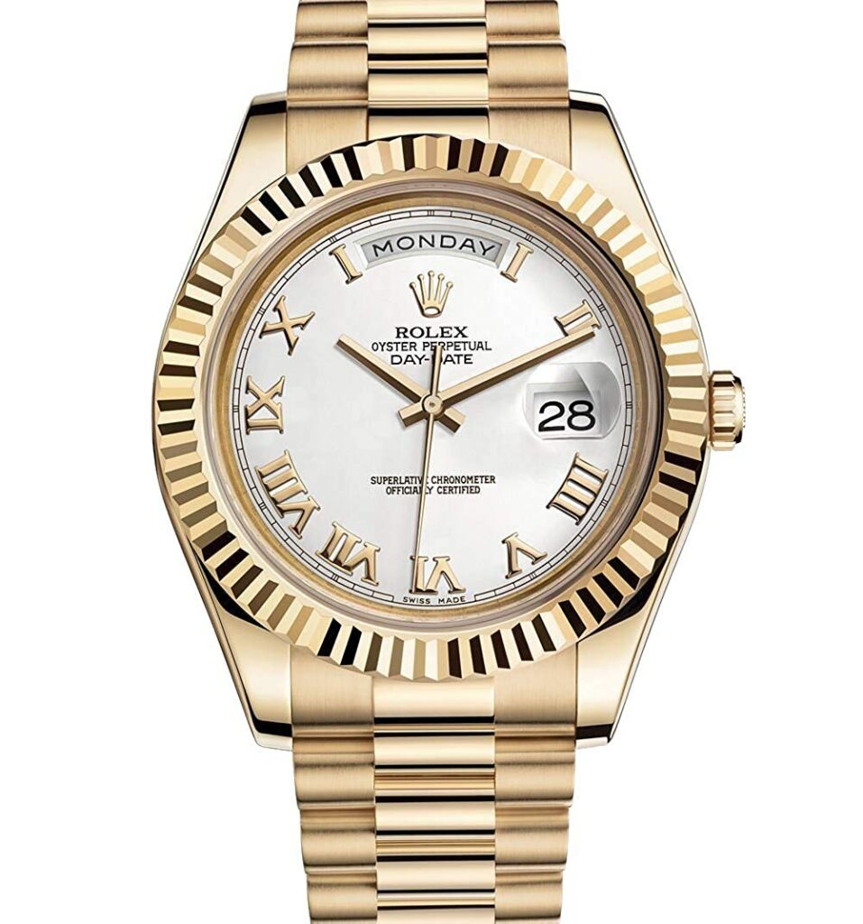 Rolex Day-Date, Gold Watches For Men, Date Display, Swiss Watch