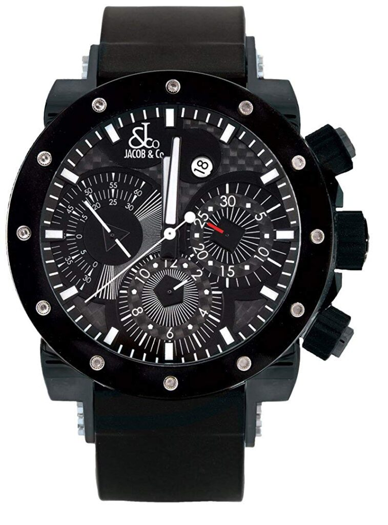 Jacob and Company Epic II, Black Watch, Date Display, Automatic Watch, Cristiano Ronaldo Watches