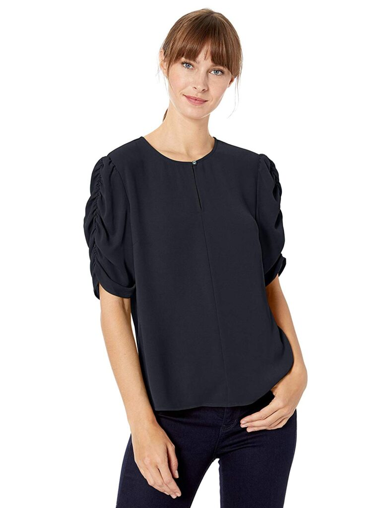 Ruched Sleeves, Black Sleeves, Jeans, Woman, Fashion