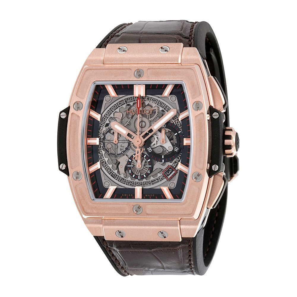 Hublot Spirit Of Big Bang King Gold Grey, Gold Watches For Men, Leather Watch, Luxury Watch
