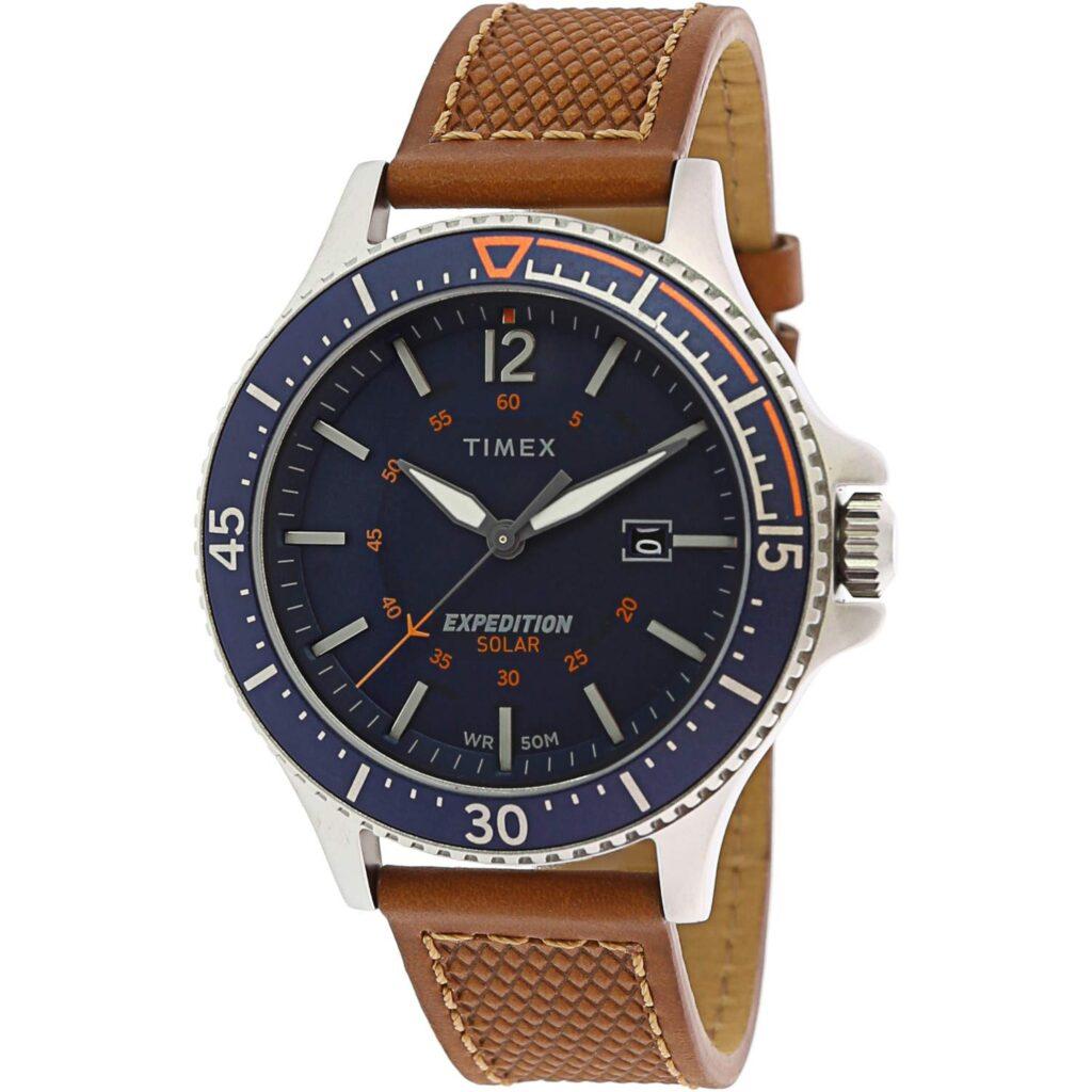 Timex Expedition Ranger, Solar Watch, Date Display, Travel Watches, Blue Dial