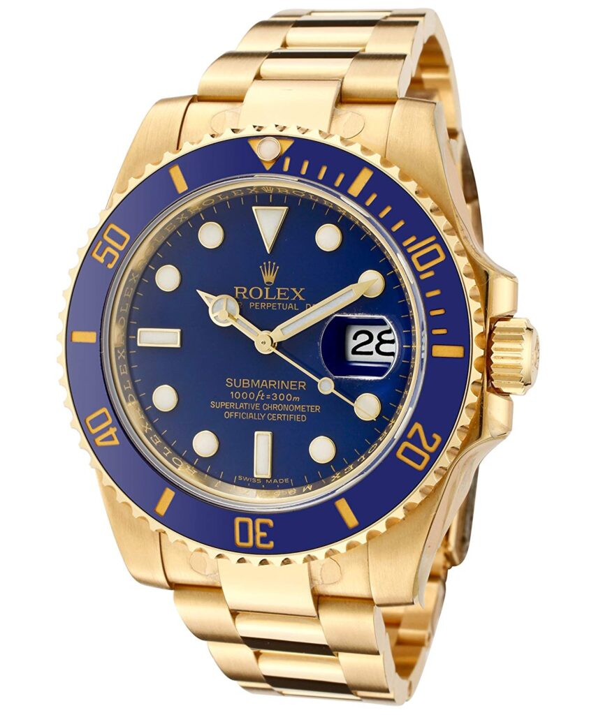 Rolex Submariner, Gold Watches For Men, Blue Dial, Water-resistant Watch, Mens Watches