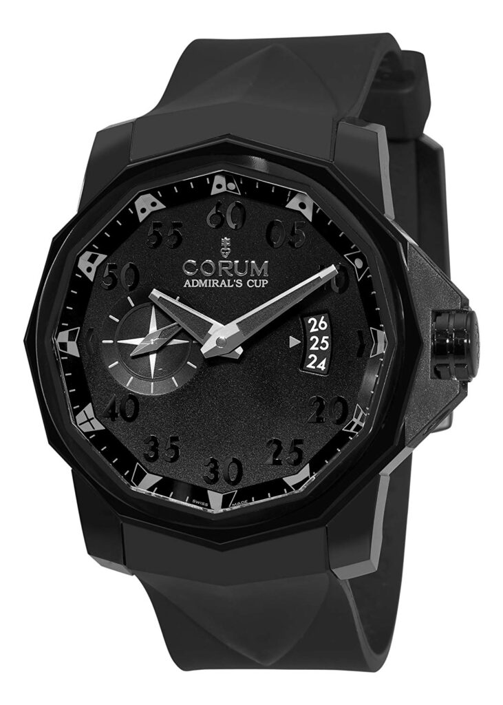 Corum Admiral's Cup Competition 48mm, Diamond Watch, Black Watch, Date Display