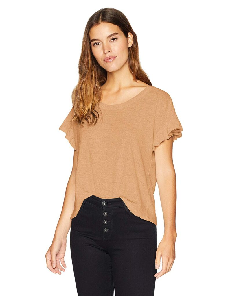 Boxy Sleeves, Brown Sleeves, Black Jeans, Woman, Fashion