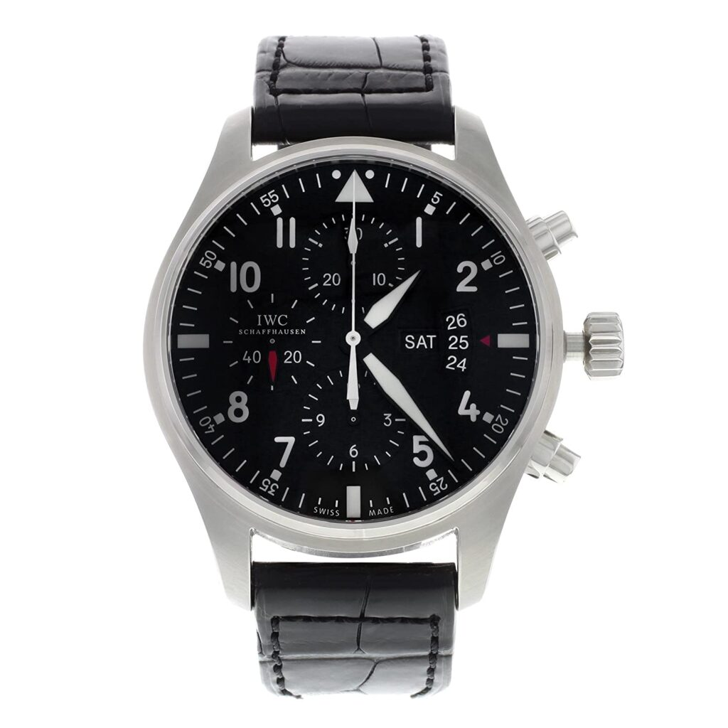 IWC Watch, Black Dial, Watch Style, Leather Watch, Swiss Watch