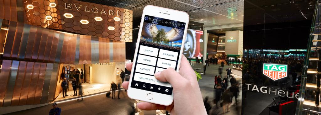 Baselworld, Baselworld Application, Navigation, Cellphone, Tag Heuer, Bvlgari