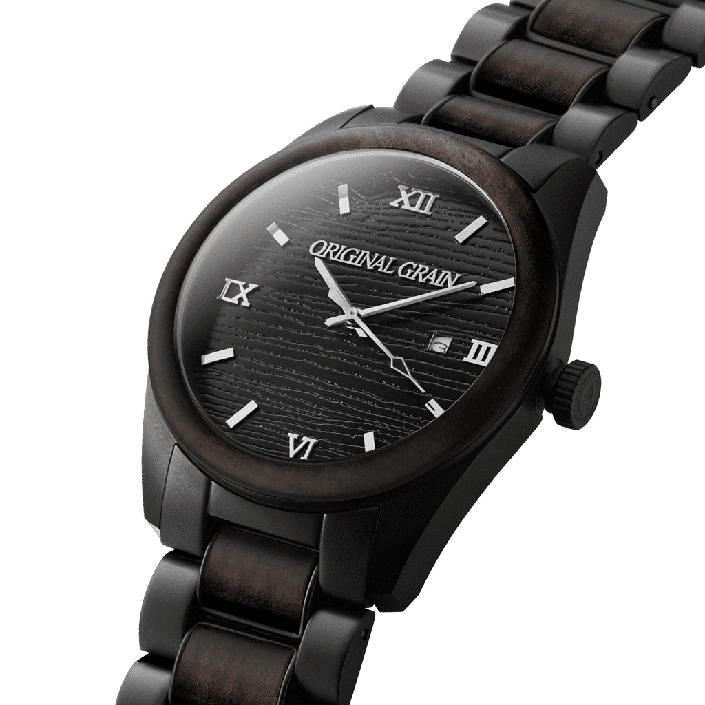 Eco-watches, Original Grain Watch, Black Watch, Nature-friendly Watch