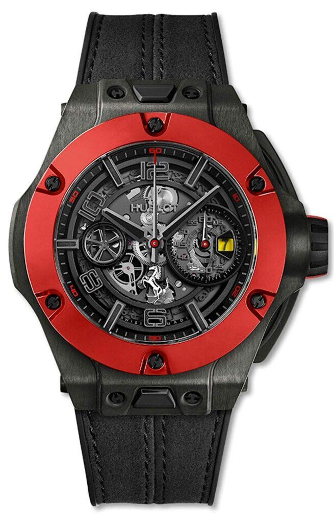 Hublot Big Bang Ferrari Ceramic Carbon, Racing Watches, Black Watch, Watch Complications, Modern Watch