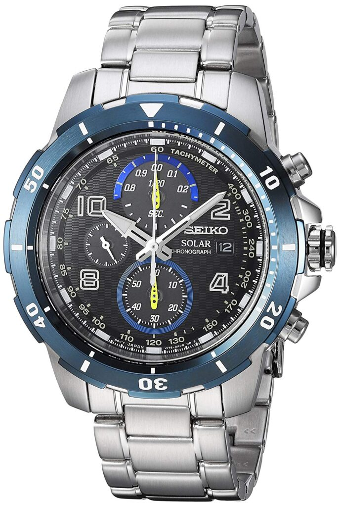 Jimmie Johnson Solar Chronograph Special Edition, Silver Watch, Date Display, Stainless-steel Watch, Tachymetre