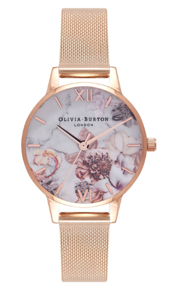olivia burton watch, rose gold watch