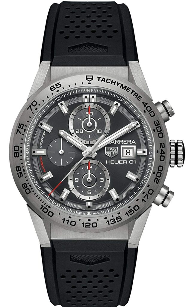 Carrera Heuer 01 Automatic Chronograph, Modern Watch, Tachymetre, Date Display, Racing Watches