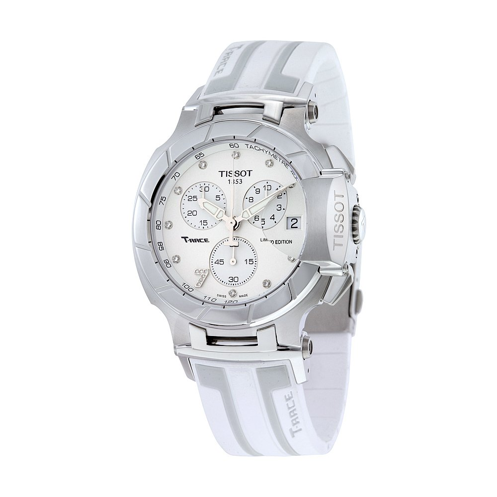 T-Race Danica Patrick Chronograph Stainless Steel Watch, Racing Watches, White Watch, Swiss Watch, Luxury Watch