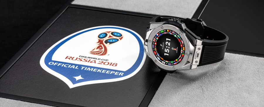 Big Bang Referee 2018 FIFA World Cup Russia Watch, Modern Watch, Black Strap, Silver Watch