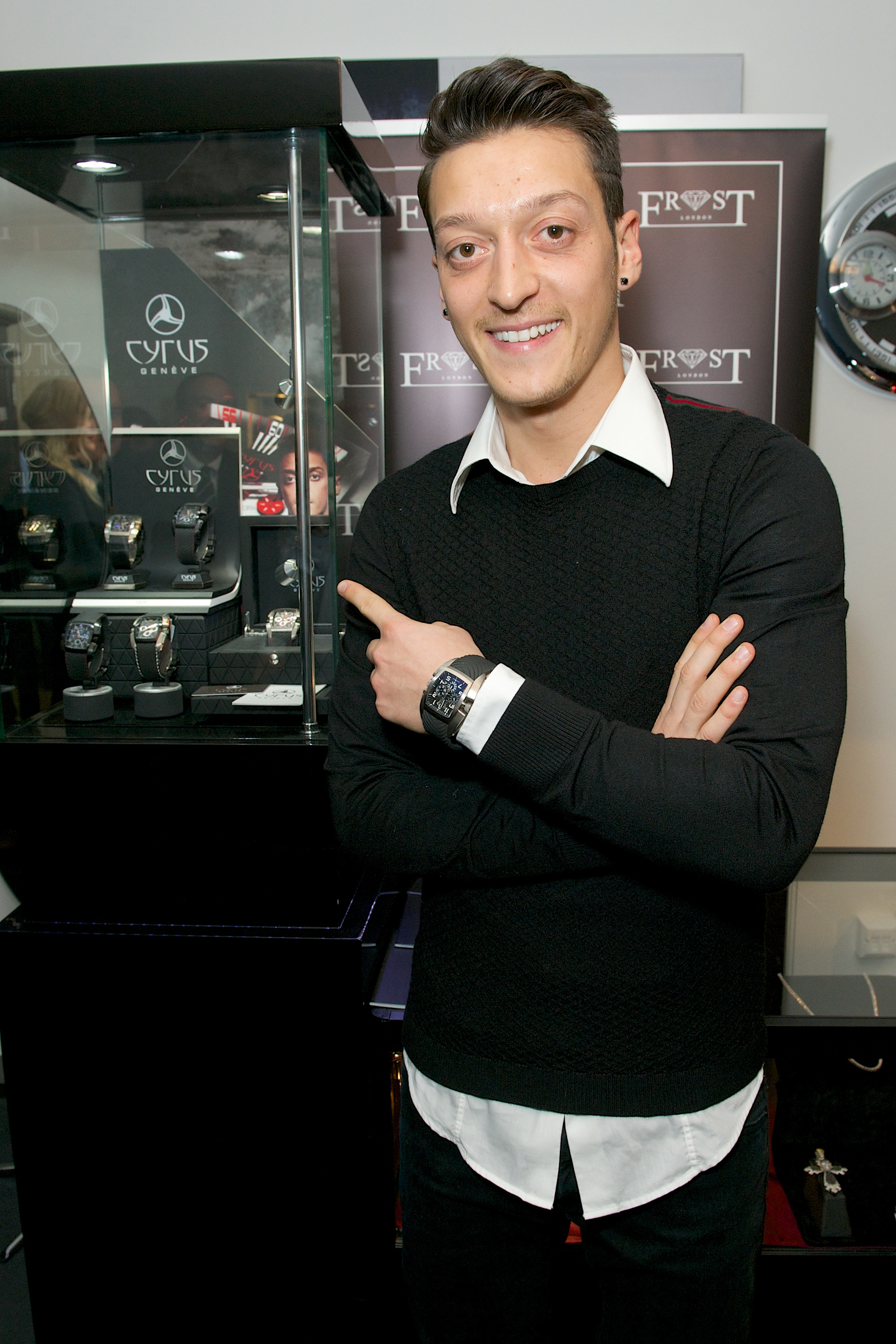 Mesut Ozil, Black Watch, Wristwatch, Automatic Watch, Luxury Watch