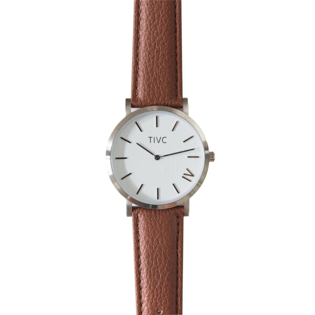 Time IV Change Watch, Eco-watches, Brown Strap, Modern Watch, Analogue Watch
