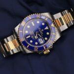 Rolex Watch, Luxury Watch, Modern Watch, Automatic Watch, Blue Watch Face, Golden Watch
