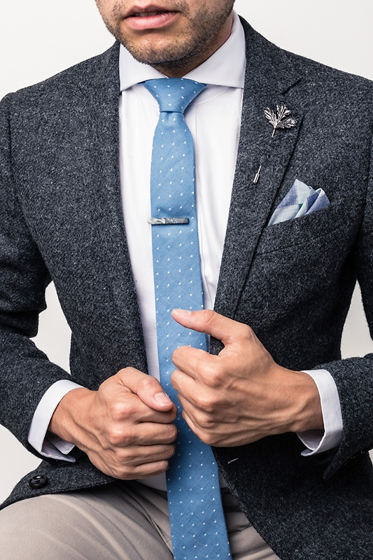 Accessories, Silver Tie Clip, Man, Necktie, Suit