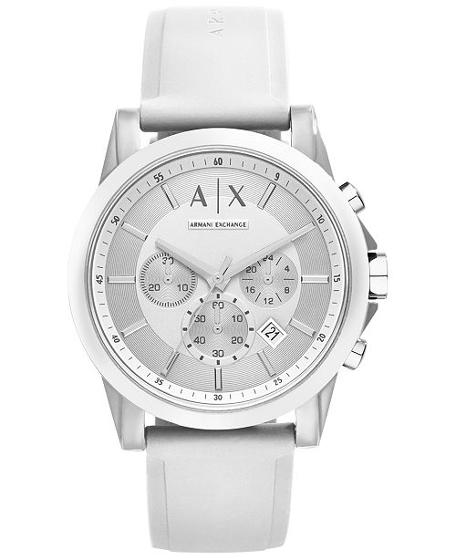 Armani Exchange Active Chronograph, all white watches