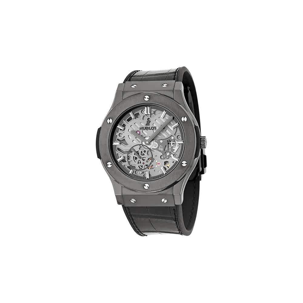Hublot Classic Fusion Classico Ultra-Thin All Black, Black Watches, Luxury Watch, Swiss Watch