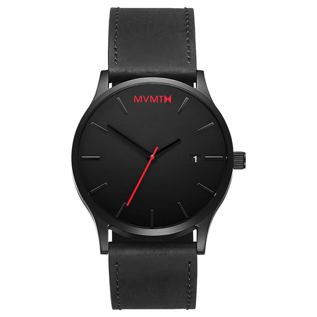 MVMT 45 MM Men's Analog Minimalist Watch, Millennial Watches, Black Watch, Date Display