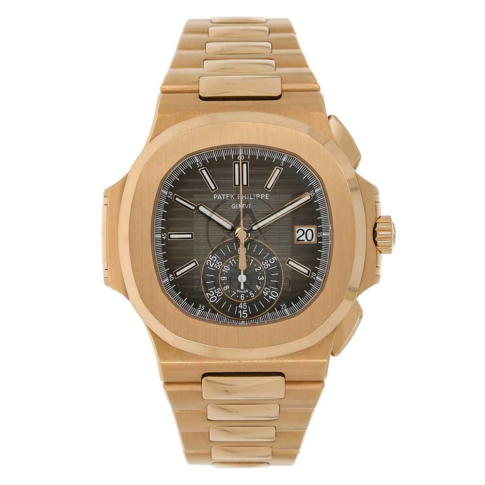 PATEK PHILIPPE NAUTILUS 40MM ROSE GOLD MEN'S WATCH 5980, Gold Watch, Date Display, Stunning Watch, Luxury Watch