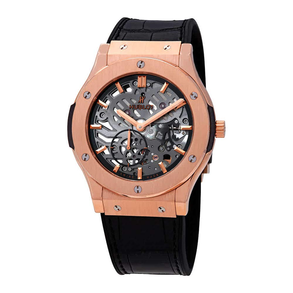 Hublot Classic Fusion Classico Men's Ultra-Thin King Gold Manual Watch, Swiss Made Watch, Gold Watch, Skeleton Watches