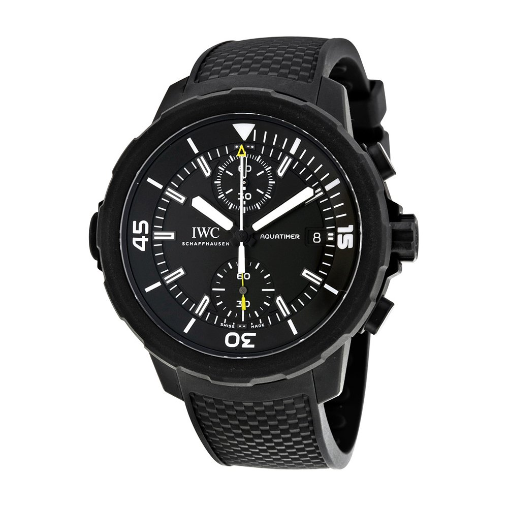 "IWC Aquatimer Chronograph Edition ""Galapagos Islands"", Black Watches, Swiss Made Watch, Automatic Watch"