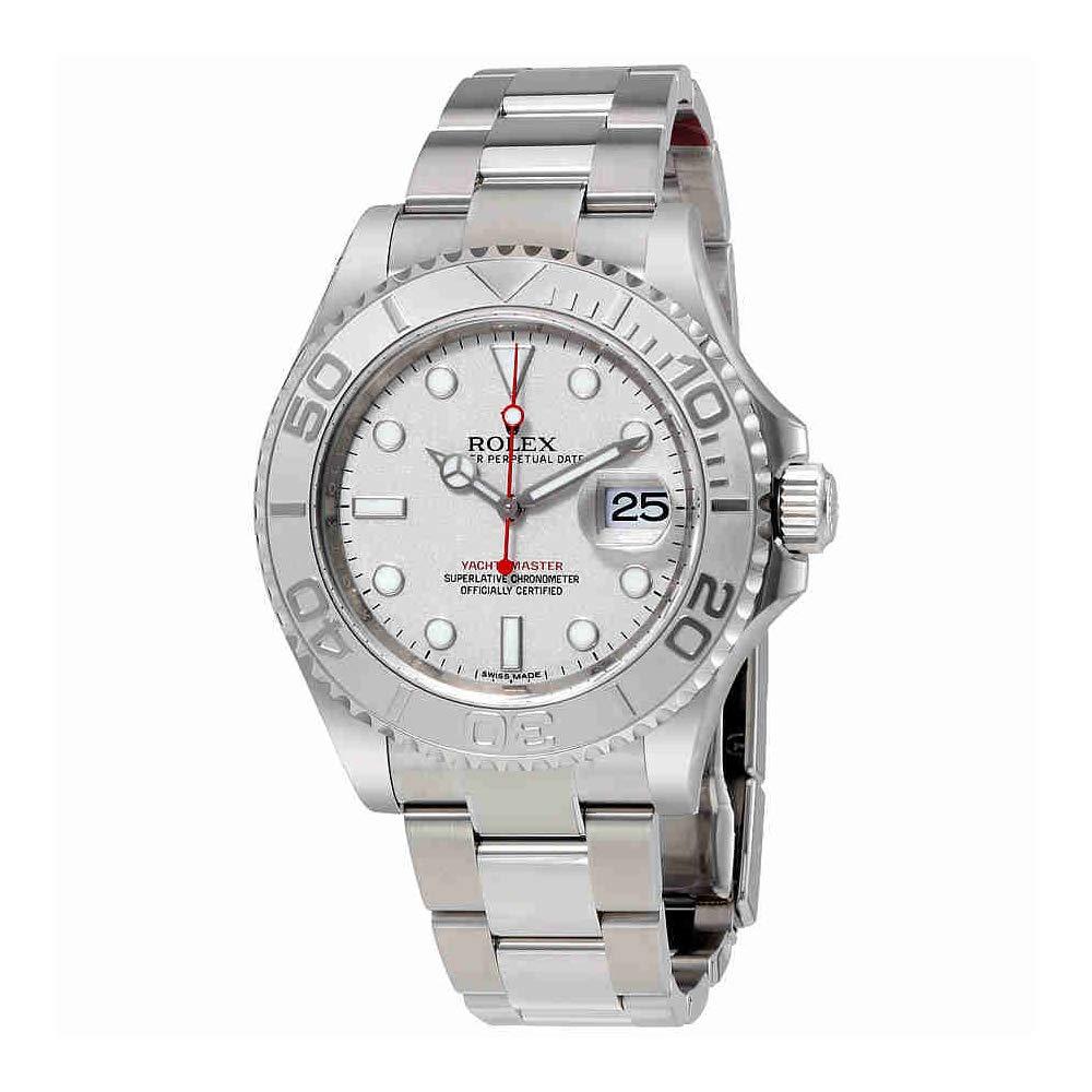 Rolex Yacht-Master Platinum Dial Steel and Platinum Mens Watch, Watch Brands In-house, Rolesium, Swiss Made Watch