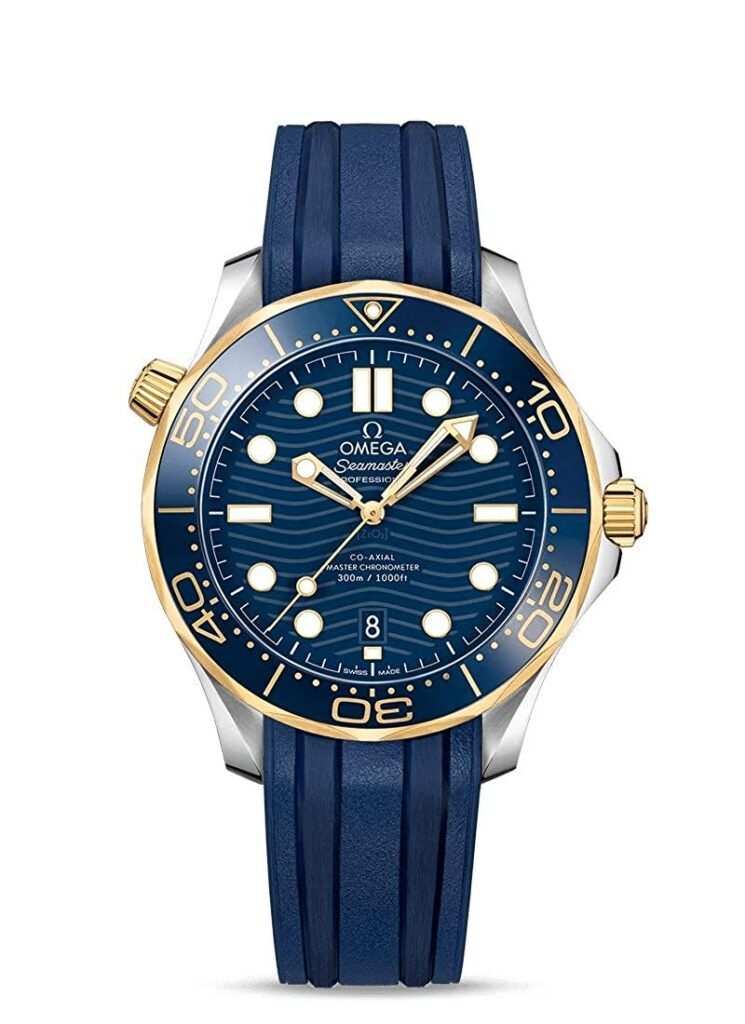 Omega Seamaster Diver 300m Co-Axial Master Chronometer 42mm Mens Watch, Watch Brands In-house, Blue Strap, Swiss Made Watch