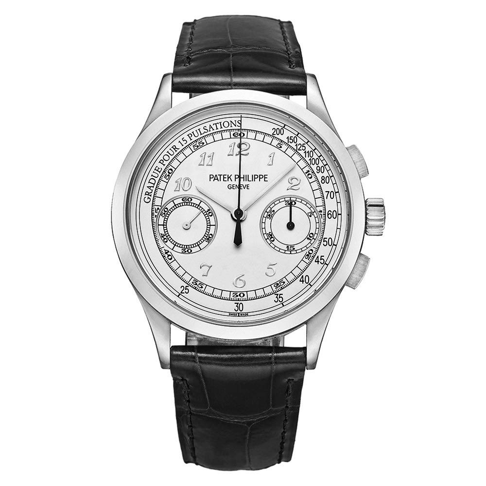 Patek Philippe Complications Chronograph Silvery White Dial Men's Watch 5170G-001, Luxury Watch, Silver Watch, Elegant Watch