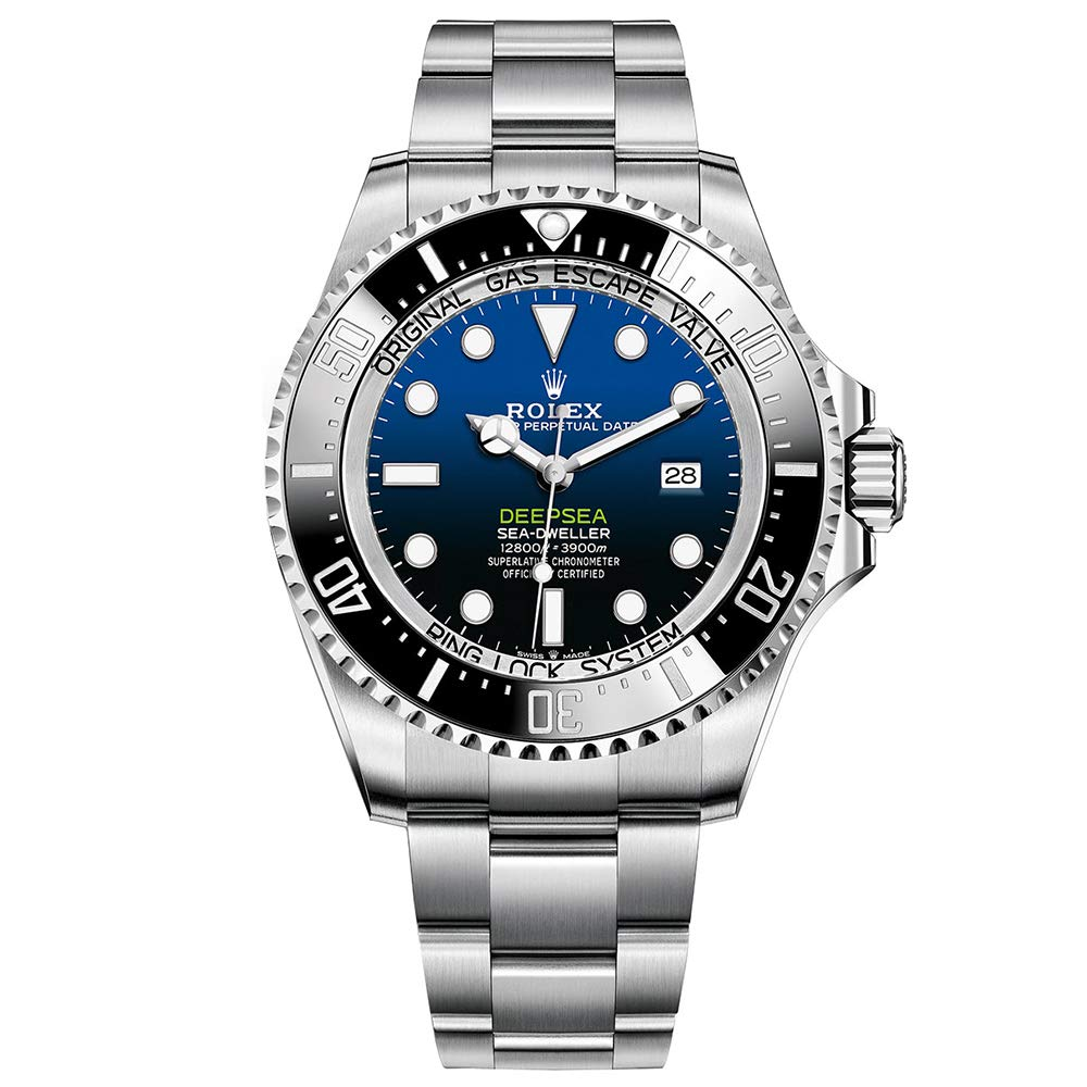Rolex Sea-Dweller, Stainless-steel Watch, Swiss Made Watch, Blue Watch Face, Automatic Watch