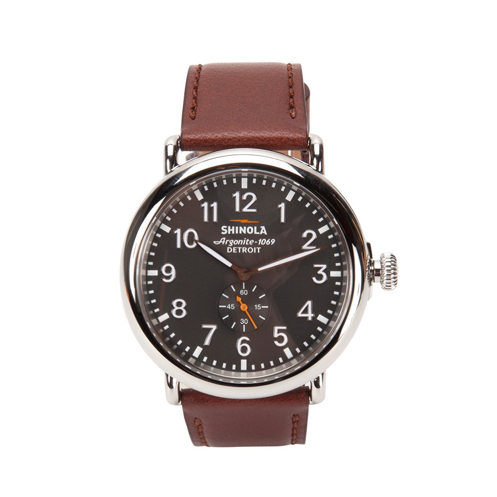 Runwell, Brown Strap, Automatic Watch, Luxury Watch, Modern Watch