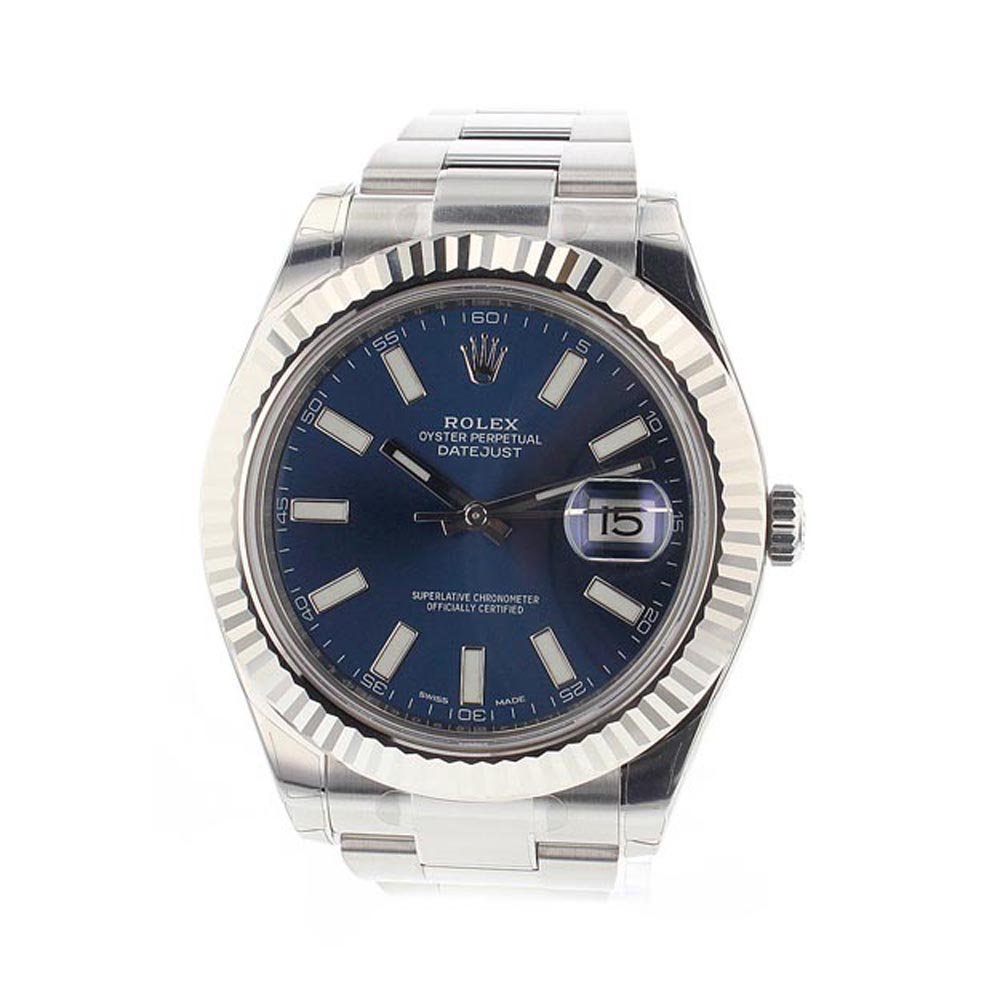 Rolex, Luxury Watch Brands, Date Display, Blue Dial, Swiss Watch
