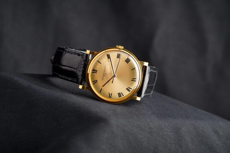 Luxury Watch, Vacheron Constantin, Golden Watch, Leather Watch, Elegant Design