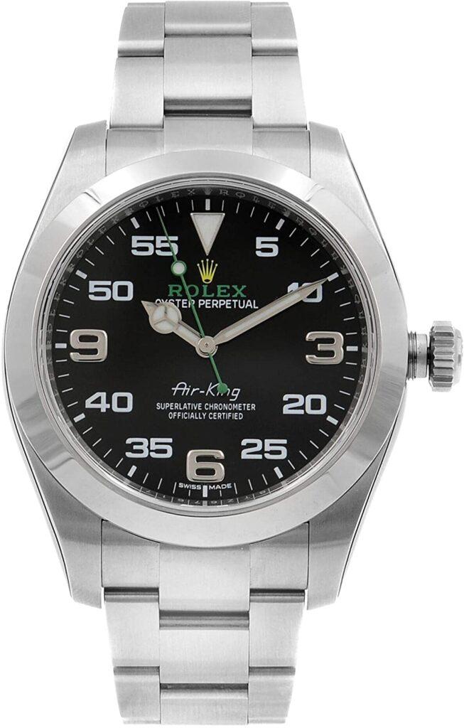 Rolex Air-King, Popular Rolex Models, Automatic Watch, Silver Strap, Swiss Watch
