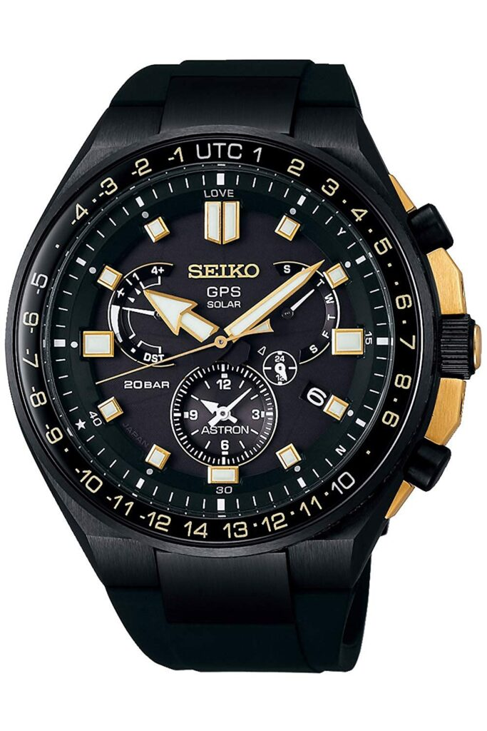 Seiko Astron SSE174J1, Solar Watch, Swiss Made Watch, Black Watch, Luxury Watch