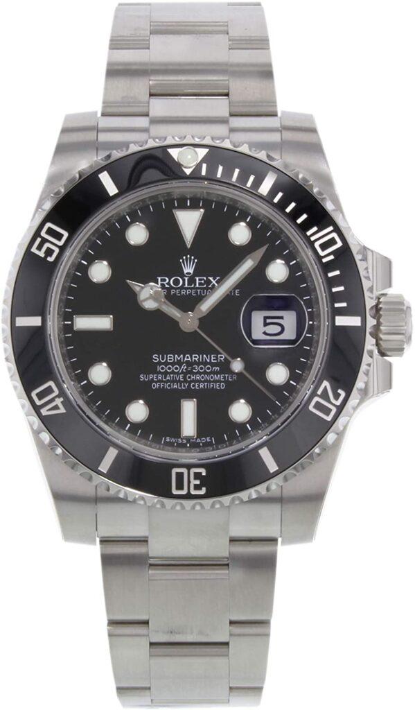 Rolex Submariner, Popular Rolex Models, Black Dial, Swiss Made Watch, Silver Watch